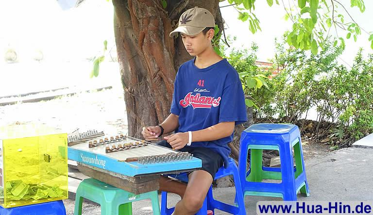 Traditionelles Musikinstrument Floating Market Hua Hin