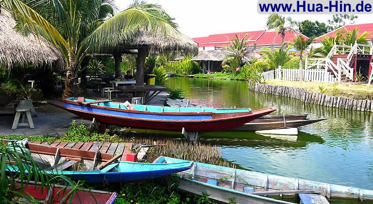 sam phan nam floating market der schwimmende markt in hua hin. Black Bedroom Furniture Sets. Home Design Ideas